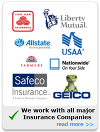We work with all Major Insurance Companies