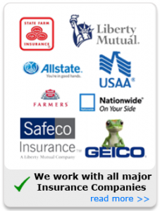 We work with all insurance companis | Home owners insurance - Restoration